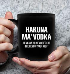 Hankuna Ma Vodka Pun Mugs Hilarious Mug Sassy Mugs Funny Mug For Women Funny Coffee Mugs, Coffee Humor, Funny Mugs, Sassy Quotes, Funny Quotes, Sassy Sayings, Shirt Sayings, You Funny, Frases