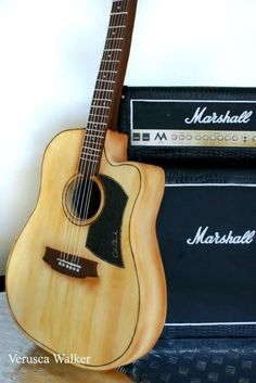Marshall Cake and Guitar