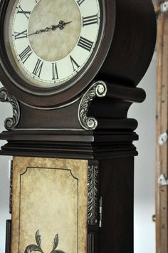 Serendipity Refined Blog: Rustic French Country Milk & Chalk Paint Grandfather's Clock Makeover