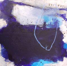 "Saatchi Art Artist Daniela Schweinsberg; Painting, ""Impressions Of Blue - SOLD…"