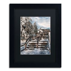 Lois Bryan 'Watch Your Step' Framed Canvas Wall Art