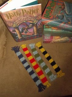 Harry Potter House Scarves Bookmarks (Original Look) on Etsy, $4.00