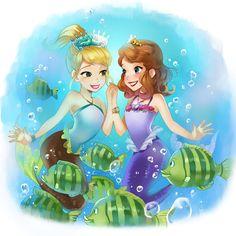 Anime Disney Princess, All Disney Princesses, Sofia Mermaid, Mermaid Art, Cool Cartoons, Disney Cartoons, Disney Drawings, Cartoon Drawings, Most Popular Cartoons