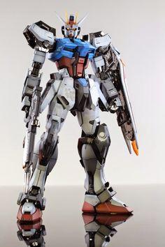 GUNDAM GUY: MG 1/100 GAT-105 Aile Strike Gundam Ver. RM - Painted Build