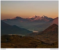 Winter sunrise on Snowdon taken from above Capel Curig. A wonderful image, , from  The Snowdonian. Check out their other images HERE http://www.thesnowdonian.com/