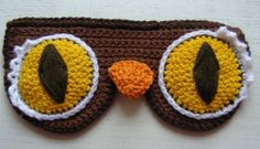 Jealous of all the cool owls and wish you could be one? Well, now you can when you rest your pretty little eyes. (Flying lessons not included.)  Step 1: Chain 39 stitchesStep 2: Use one as the original turning stitch then single crochet 10 lines of 38 stitches.Step 3: Cast off the crochet.Step 4: Start crocheting again in the 8th stitch from the edge.from this position fan stitch 7 single crochets into the 9th stitch (or however many it needs to make a semicircle)Step 5: Once this is done…