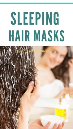 Benefits of using sleeping hair masks The hair mask is actually a deeply nourishing treatment that gives the added advantage to the tresses. Sleep Hairstyles, Diy Hairstyles, Hair Growth Mask Diy, Overnight Hair Mask, Overnight Hairstyles, Honey Face Mask, Regrow Hair, Home Remedies For Hair, Hair Hacks
