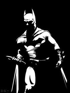 Dark Knight Black and White by on deviantART Im Batman, Batman Art, Comic Style, Scratchboard Art, Batman Poster, Batman Tattoo, Shadow Art, Stencil Art, Cultura Pop