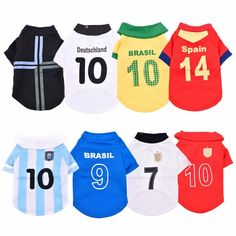World Cup T-Shirts for Small Pets a903c46d5af97