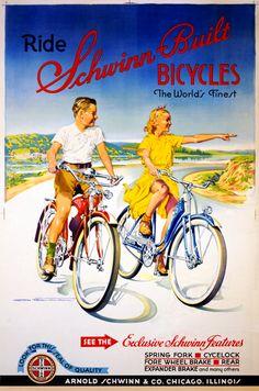 Vintage Schwinn Bicycle Posters