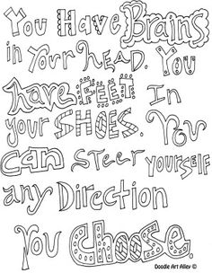 Fun Educational Quotes With Coloring
