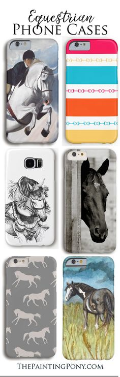 CUTE horse lover phone cases - for samsung galaxy and Iphone style cell phones. Perfect for the equestrian who enjoys hunter jumper, dressage, equitation, trail riding, cowgirl barrel racing horseback riding!