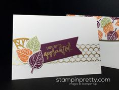 Thoughtful Branches stamp set & Beautiful Branches Thinlits Dies autumn thank you card.  Mary Fish, Stampin' Up! Demonstrator.  1000+ StampinUp & SUO card ideas.  Read more http://stampinpretty.com/2016/08/thoughtful-branches-fresh-for-fall.html