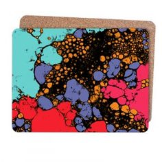 Bubbles placemats - hand printed and digital image - Sarah Bagshaw