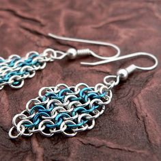 Danenke Jewelry Design: Sterling Silver ChainMaille Earrings