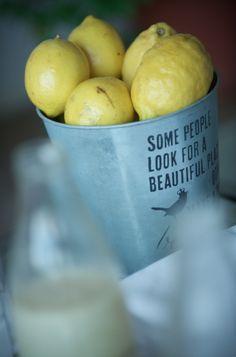 Mesa de limonadas ::: lemonade table at our wedding ;) Wedding Decoration
