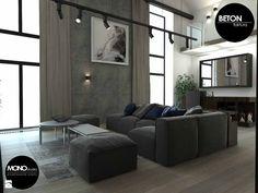 Salon styl Industrialny - zdjęcie od MONOstudio - Salon - Styl Industrialny - MONOstudio