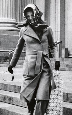 Jackie Kennedy Onassis after a trip to The Metropolitan Museum of Art, November, 1971