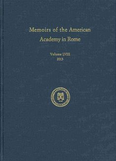 Memoirs of the American Academy in Rome (Hardcover)