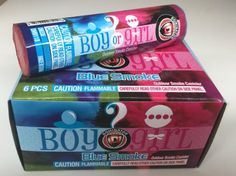 Gender Reveal Party Smoke Canisters Blue It's a Boy 6pk