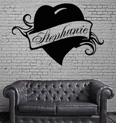 Wall Stickers Vinyl Decal Stephanie Personalized Name Lettering Custom z983