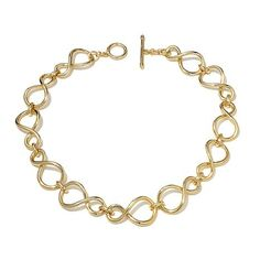 "Roberto by RFM ""Cerchi Infiniti"" Link Necklace in gold tone"
