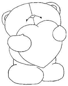 Risco e Rabisco - Pintura em Tecido: Riscos de Ursos