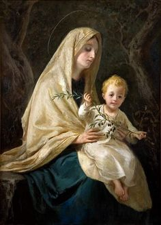 David Beghè — Madonna of White Mantle, 1919 Blessed Mother Mary, Divine Mother, Blessed Virgin Mary, Catholic Art, Catholic Saints, Religious Art, Immaculée Conception, Hail Holy Queen, Images Of Mary
