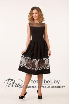 Модное черное платье на выпускной 42-46 размеров. Платья на выпускной от tetrabel.by. Платья на выпускной оптом. #ВыпускныеПлатья  #ПлатьеНаВыпускной