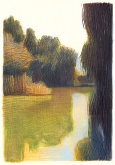 drawings and sketches Landscape Sketch, Landscape Drawings, Abstract Landscape, Landscape Paintings, Art And Illustration, Art Sketches, Art Drawings, Art Inspo, Painting & Drawing