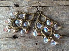Iridescent Chandelier Earrings Gypsy Bohemian by TheHippieBohemian, $25.00
