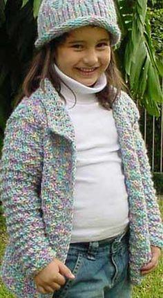 Entre as laçadas: Junho 2010 Kids Knitting Patterns, Knitting For Kids, Crochet Cardigan Pattern, Crochet Jacket, Cardigan Sweaters For Women, Baby Sweaters, Diy Crafts Knitting, Kids Poncho, Quick Knits