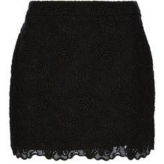 STELLA MCCARTNEY lace skirt (€685) ❤ liked on Polyvore featuring skirts, mini skirts, saias, bottoms, faldas, high-waisted skirts, black mini skirt, short lace skirt, lace mini skirt and black miniskirt