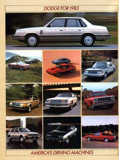 Dodge's full line for 1983.