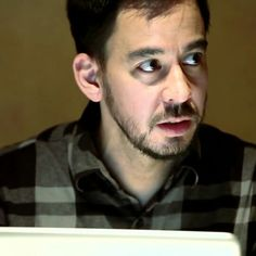 Mike Shinoda during the album cover art meeting for Living Things
