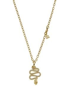 Temple St. Clair 18K Gold Slithering Serpent Pendant with Diamond Pavé, 0.485 ct. t.w.