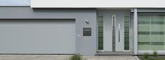 Front entrance and garage doors from Hormann