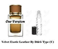 Velvet Exotic Leather By Dolce & Gabbana Type Premium Unisex Fragrance Oil