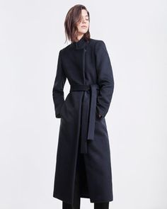 608469a5013b Posy Coat   Jigsaw   Long, sharp and cut close to the body, this