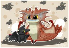 Toothless & Cloudjumper by Isi-Daddy.deviantart.com on @deviantART