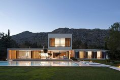 This modern minimalistic single family residence designed by Miquel Lacomba is located on the Spanish island of Mallorca