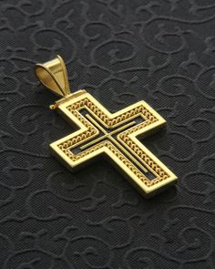Χειροποίητος Σταυρός χρυσός Κ18 Christian Symbols, Christian Faith, Crucifix, Cross Pendant, Jewelery, Gold Rings, Fashion Accessories, Christianity, Gifts