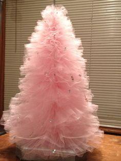 Ballerina birthday near Christmas?????  Pink Tulle Tutu TreeHome Decor ballerina Party