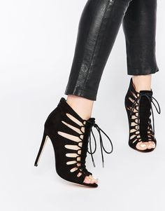 ASOS HARLEY Lace Up Heeled Sandals