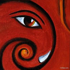 """People see God every day, they just don't recognize him."" Most beautiful painting of Ek Dant Ganesha. see more artsnyou.com"