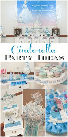 Blown away by this amazing Cinderella princess birthday party! What a lucky girl! See more party ideas at CatchMyParty.com. #girlbirthday #princess