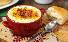 Nothing takes the chill off a cold night like a bowl of your favorite soup. Just the thought of this fully loaded cheesy baked potato soup is enough to make my heart skip a beat. I can't get enough of it.This is a very simple soup made with left over baked potatoes (or cook your [...]