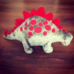 The fierce Stegosaurus by zoeyindia on Etsy Love Is All, Baby Products, Dinosaur Stuffed Animal, Quilts, Toys, Unique Jewelry, Handmade Gifts, Activity Toys, Kid Craft Gifts