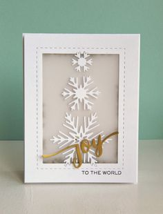 Kara Vrabel for Wplus9 featuring Hand Lettered Holiday stamps and dies, Snowflake Trio dies, and Holiday Apertures dies
