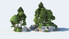 low poly rock pack 3d model low-poly obj blend dae mtl unitypackage 6
